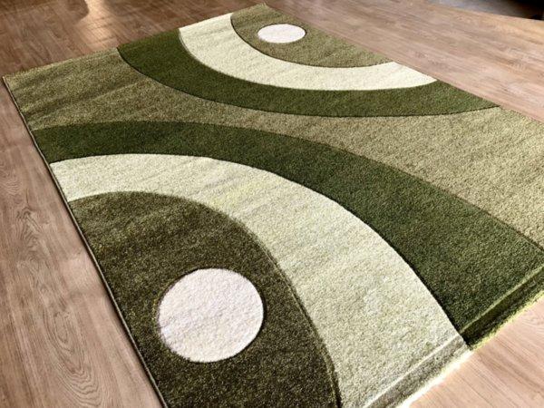 релефен килим съни   8273 зелен